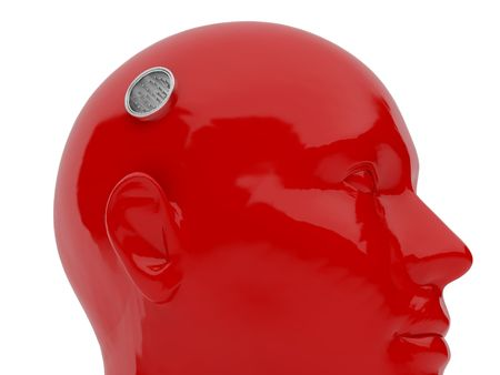 nose plugs: 3d illustration over white backgrounds. High resolution image. Robot dummy.