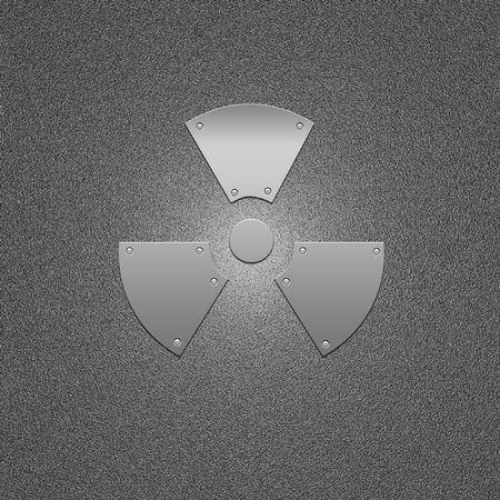argentum: Sign on the prevention of radioactive infection. Threat and danger symbol.