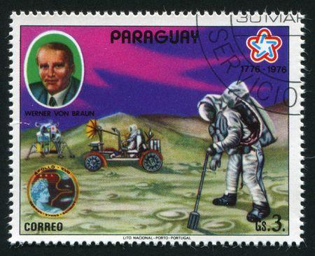 Paraguay betreffende - CIRCA 1976: Wernher von Braun war eine deutsche American Rakete Physiker und Astronautik Engineer, circa 1976. Standard-Bild - 5840396