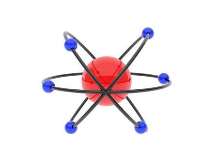 protons: High resolution image. Model of atoms and protons.