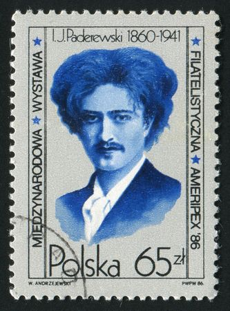 diplomat: POLAND - CIRCA 1986: Ignacy Jan Paderewski was a Polish pianist, composer, diplomat, politician, and the third Prime Minister of the Republic of Poland, circa 1986.