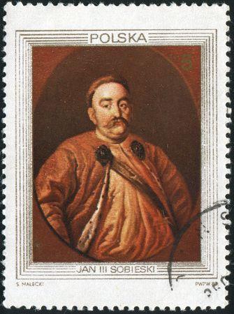 sobieski: POLAND - CIRCA 1983: Portrait of King John III Sobieski, circa 1983.