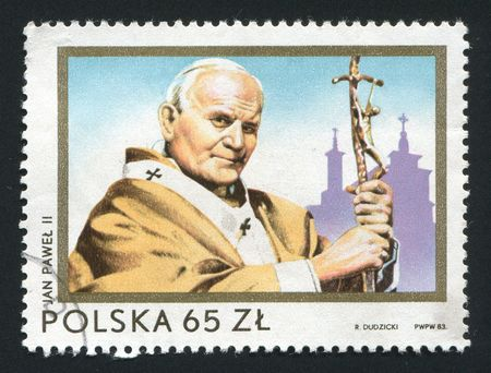 blessings: POLAND - CIRCA 1983: Second Visit of Pope John Paul, circa 1983.