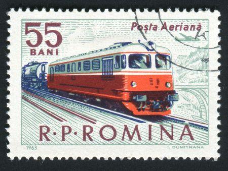 ROMANIA - CIRCA 1963: The railway. Ancient diesel locomotive, circa 1963. photo