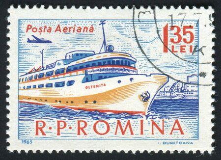 ROMANIA - CIRCA 1963: The seaport. Ancient Passenger ship, circa 1963. photo
