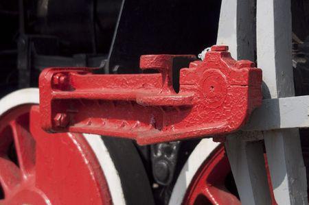 High resolution image. Vintage steam locomotive. Ancient train with a steam locomotive. photo