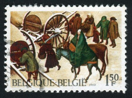 censo: Belgica - CIRCA 1969: El censo en Bel�n (detalle), por Peter Brueghel, alrededor del a�o 1969.  Foto de archivo