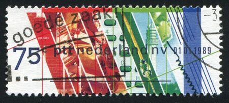privatization: NETHERLANDS - CIRCA 1989: Privatization of the Netherlands Postal Service, circa 1989.