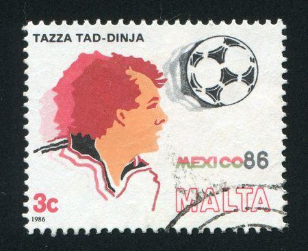 MALTA - CIRCA 1986: 1986 World Cup Soccer championship, Mexico, circa 1986.