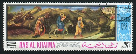 khaima: RAS AL KHAIMA - CIRCA 1968: Picture from the bible, circa 1968.