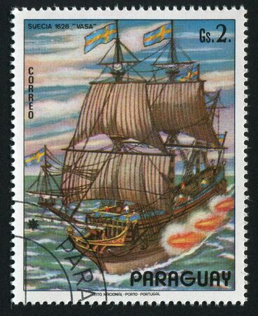 PARAGUAY - CIRCA 1976: The ancient military ship, circa 1976. photo