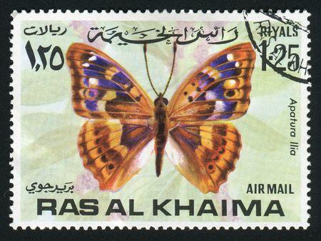 khaima: RAS AL KHAIMA - CIRCA 1978: Apatura is a genus of butterflies known as the Emperors, circa 1978.