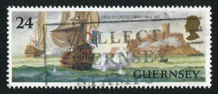 GREAT BRITAIN - CIRCA 1985: The ancient military ship, circa 1985. Stock Photo - 6141967