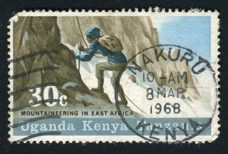 CANADA - CIRCA 1979: Mount Kenya. Mountain climber, circa 1979. photo