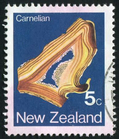 NEW ZEALAND - CIRCA 1977: Minerals Found NEW ZEALAND, circa 1977. photo