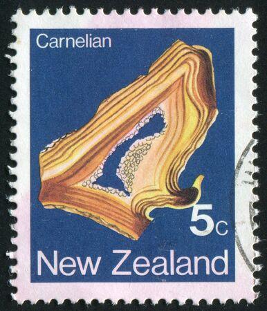 plumbum: NEW ZEALAND - CIRCA 1977: Minerals Found NEW ZEALAND, circa 1977.