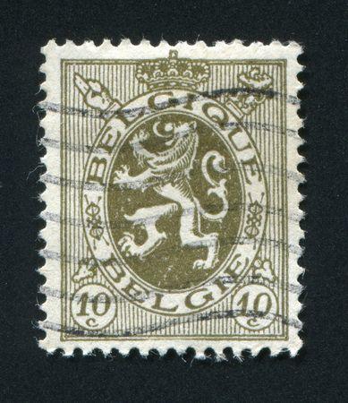 rampant: BELGIUM - CIRCA 1949:  Lion Rampant. Belgian stamp, circa 1949.