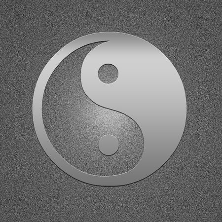 ying: High resolution image. 3d illustration. Yin yang, taoistic symbol of harmony and balance. Stock Photo