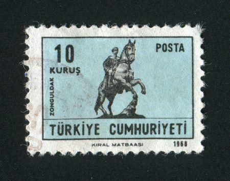 TURKEY - CIRCA 1968: Statue of Ataturk, Ankara, circa 1968. photo