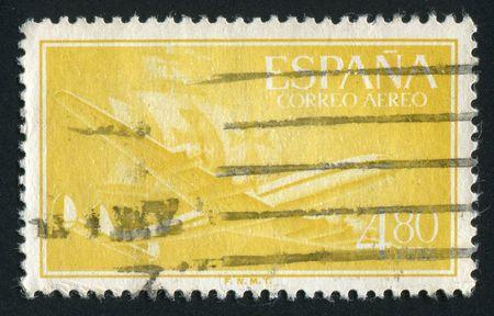 caravelle: Espagne - CIRCA 1955 : Plan et Caravel, vers 1955. Banque d'images