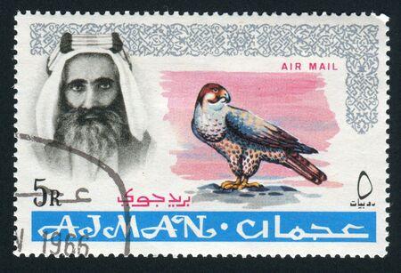 sheik: AJMAN - CIRCA 1964: Sheik Rashid bin Humaid al Naimi, circa 1964. Editorial
