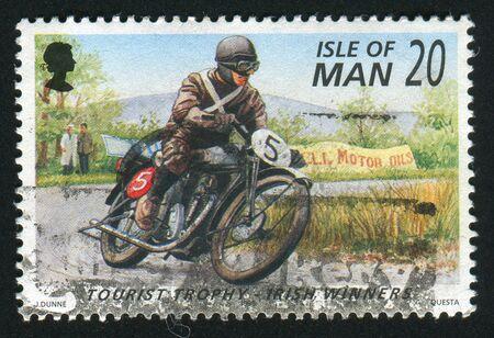 ISLE OF MAN - CIRCA 1996: Irish Winners of Tourist Trophy Motorcycle Races, circa 1996.