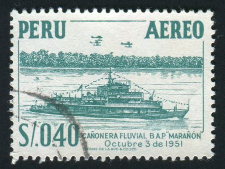 PERU - CIRCA 1951: Big the military ship, circa 1951. photo
