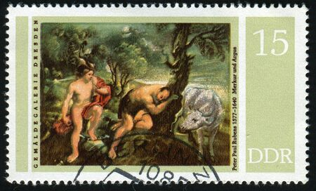 GERMANY  - CIRCA 1977: Rubens Paintings in Dresden Gallery: Mercury and Argus,  circa 1977. Stock Photo - 6296972
