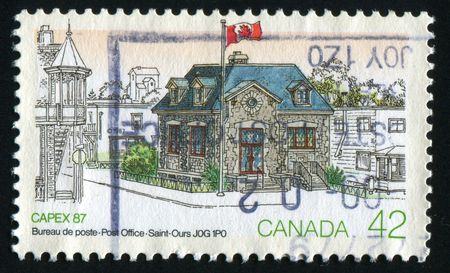 ours: CANADA - CIRCA 1987: Saint Ours post-office, circa 1987.