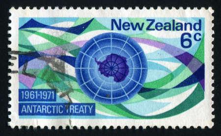 circa: NEW ZEALAND - CIRCA 1971: Map of Antarctica, circa 1971.