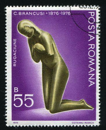 constantin: ROMANIA - CIRCA 1976: Constantin Brancusi (1876-1957), sculptor, circa 1976.
