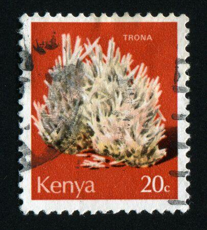 plumbum: KENYA - CIRCA 1977: Trona, circa 1977.