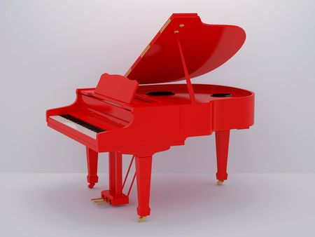 Illustration of a piano. High resolution image. 3d illustration. Stock Illustration - 6407815