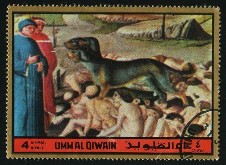 sinners: UMM AL QIWAIN - CIRCA 1972:  Torments of sinners, circa 1972.