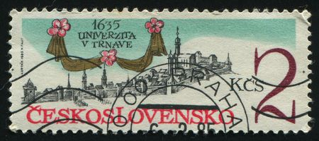 CZECHOSLOVAKIA - CIRCA 1985: Trnava University, 350th Anniv, circa 1985. photo