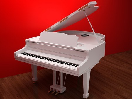 Illustration of a piano. High resolution image. 3d illustration. Stock Illustration - 6987415