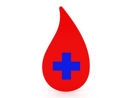 christcross: High resolution image blood. 3d illustration over  white backgrounds.
