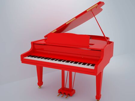 grand piano: Illustration of a piano. High resolution image. 3d illustration.