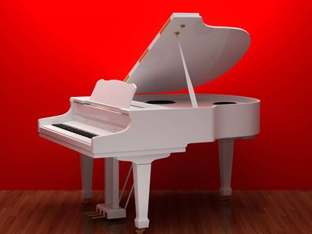 grand open: Illustration of a piano. High resolution image. 3d illustration.