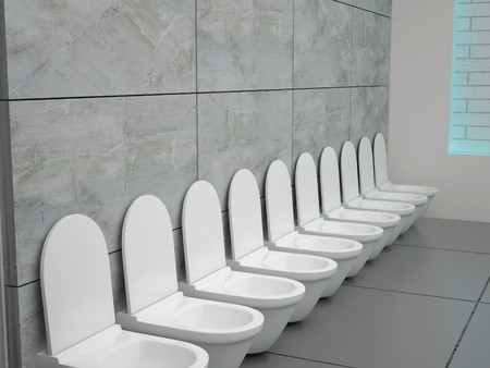 Toilette in hotel room. High resolution image. 3D rendered illustration. illustration