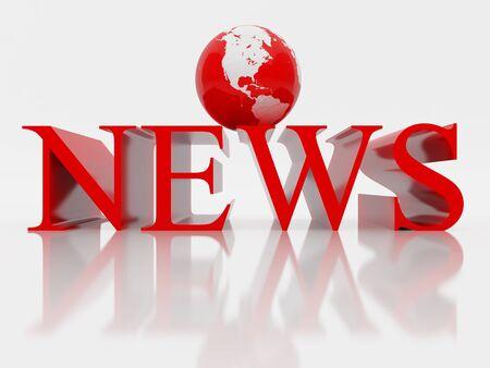 3D rendered illustration of news. High resolution image. illustration