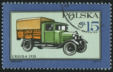 POLAND - CIRCA 1987: stamp printed by Poland, shows truck, circa 1987. photo