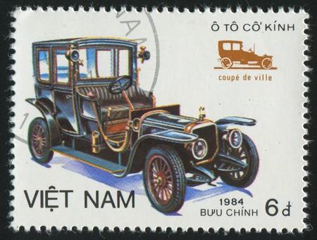 VIET NAM - CIRCA 1984: stamp printed by Viet Nam, shows retro car, circa 1984 photo