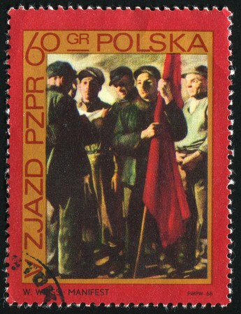 POLAND - CIRCA 1968: �Manifesto,� by Wojciech Weiss, circa 1968.