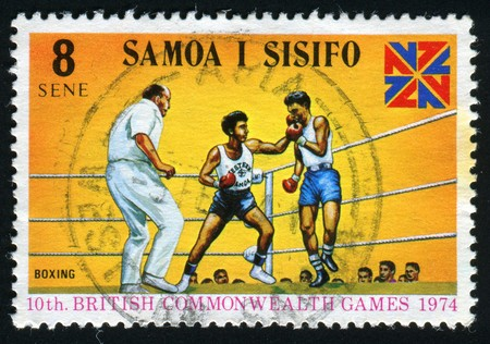 commonwealth: 10th British Commonwealth Games. Boxing and Games Emblem, circa 1974.