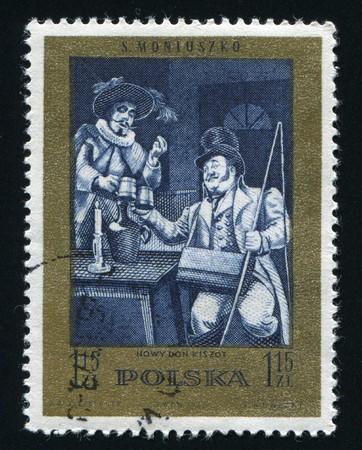 POLAND - CIRCA 1972: Scenes from operas or ballets by Moniuszko: New Don Quixote, circa 1972.