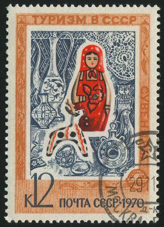 matroushka: RUSSIA - CIRCA 1970: stamp printed by Russia, shows Matreshka - dolls from Russia, circa 1970.