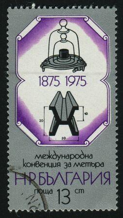 kilogram: Standard Kilogram and Meter, circa 1975.