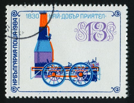stamp printed by Bulgaria, shows locomotives, circa 1984. Stock Photo - 7302427
