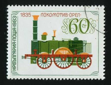 stamp printed by Bulgaria, shows locomotives, circa 1983. Stock Photo - 7302420